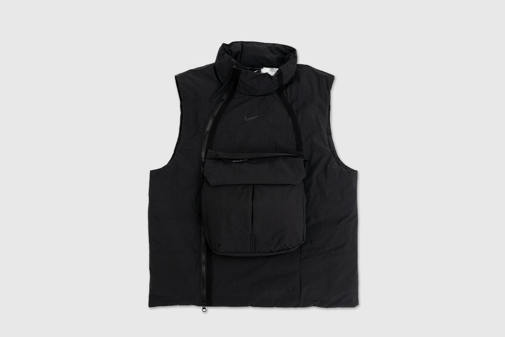 "NIKE TECH PACK FULL ZIP SYNTHETIC FILL TACTICAL VEST ""BLACK"""