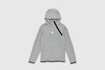 "NIKE TECH PACK HALF ZIP PULLOVER HOOD ""GREY HEATHER"""