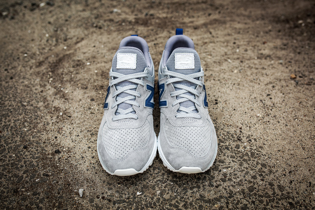 NEW BALANCE MS574BLG - DARK GREY/SPORT BLUE