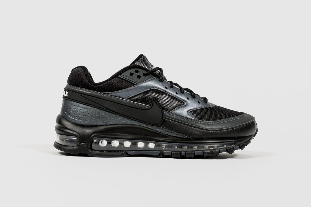 "NIKE AIR MAX 97/BW ""BLACK METALLIC HEMATITE"""