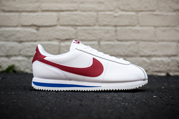 NIKE CORTEZ BASIC LEATHER OG - WHITE/VARSITY RED