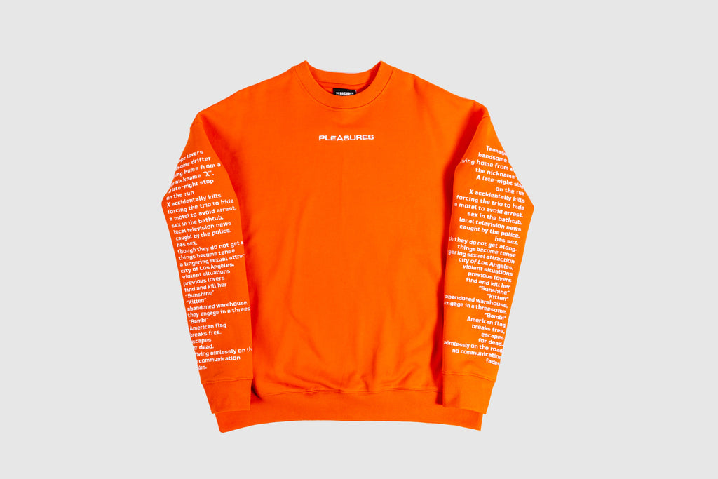 PLEASURES TEENAGELOVER CREWNECK