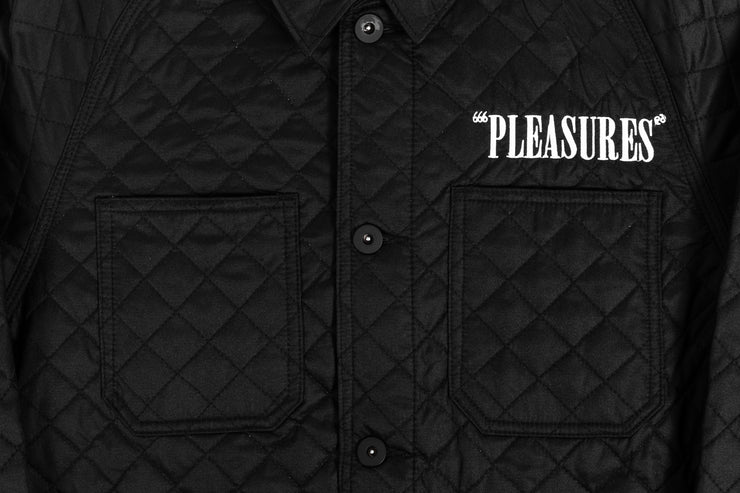 PLEASURES RODMAN QUILTED SATIN CHORE JACKET
