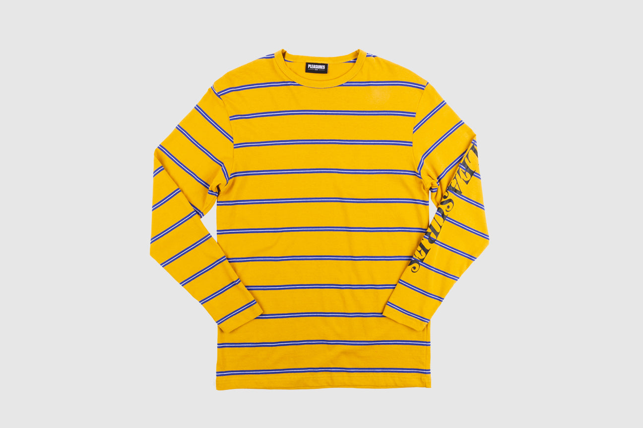 PLEASURES SCREAM STRIPED L/S T-SHIRT