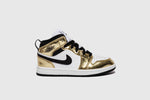 "AIR JORDAN 1 MID (PS) ""METALLIC GOLD"""
