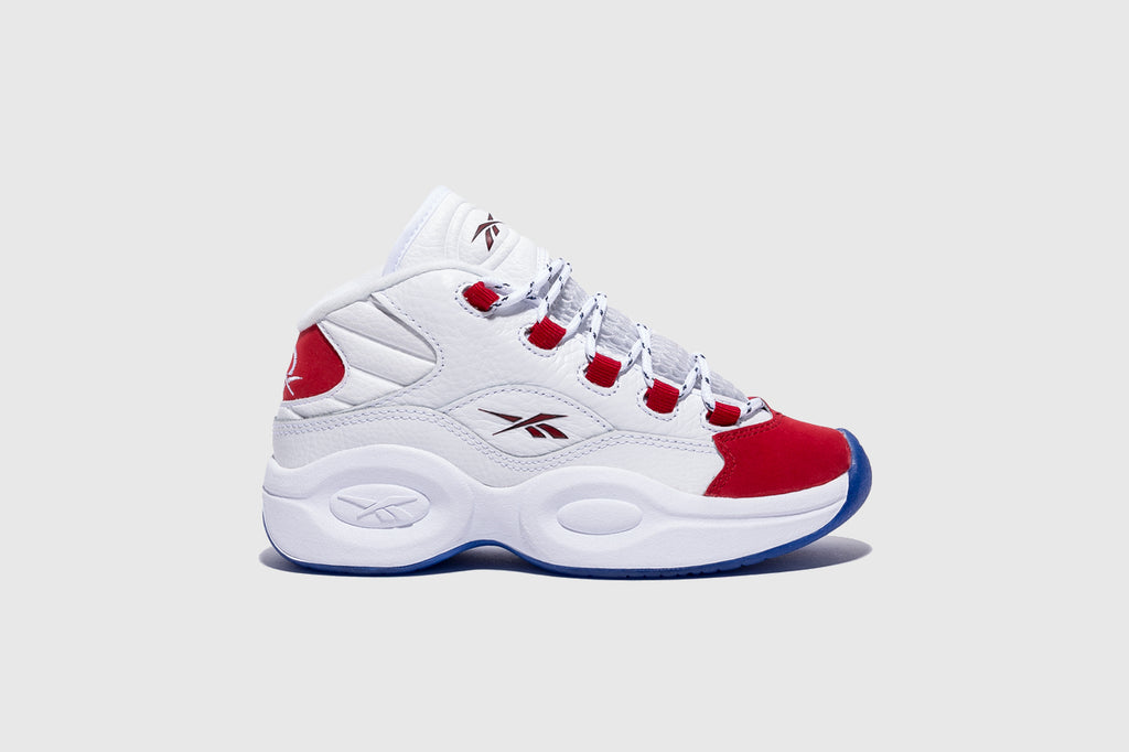 "REEBOK QUESTION MID KIDS ""RED TOE"""