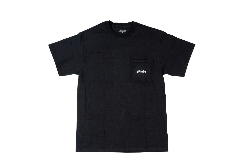 PACKER CLASSIC LOGO POCKET T-SHIRT - BLACK