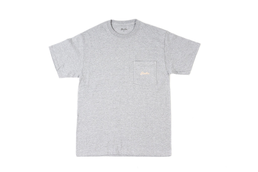 PACKER CLASSIC LOGO POCKET T-SHIRT - HEATHER GRAY