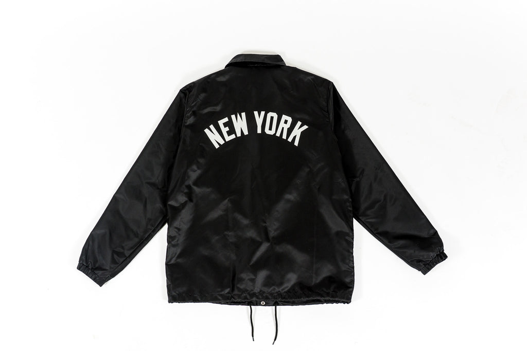 PACKER X STARTER X NY YANKEES COACHES JACKET - BLACK/REFLECTIVE SILVER
