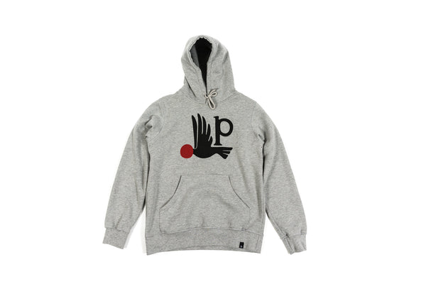 PARRA HOODED SWEATER BIRD P - HEATHER GREY