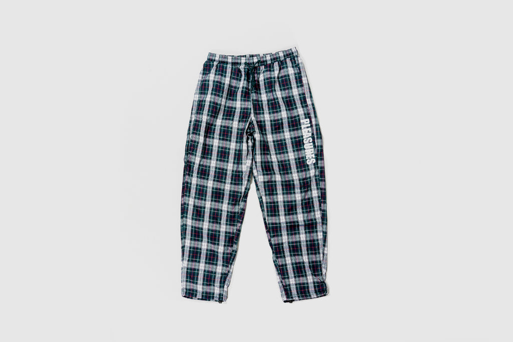 PLEASURES POLY PLAID TRACK PANT