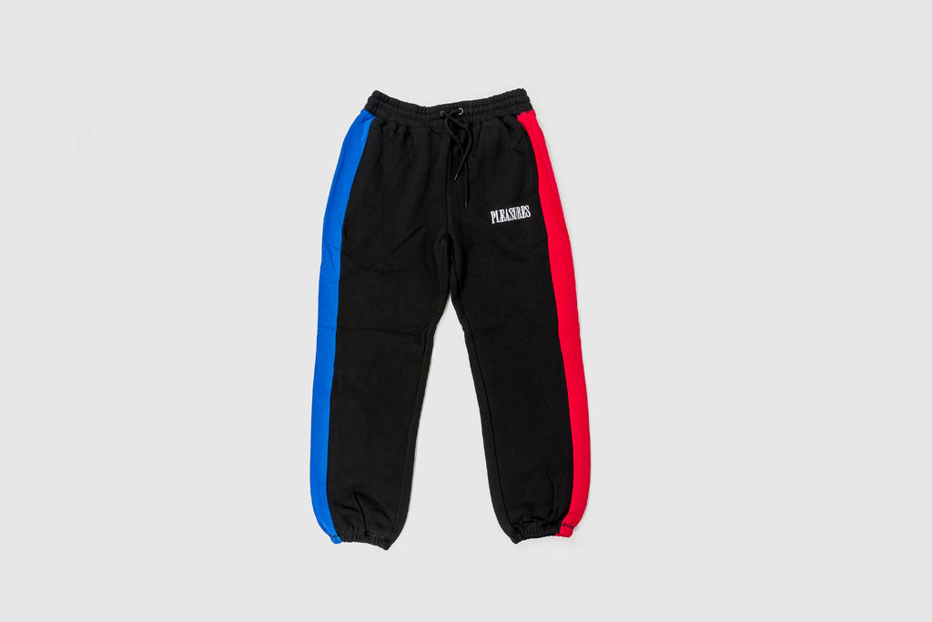 PLEASURES SPLIT COLOR SWEATPANTS