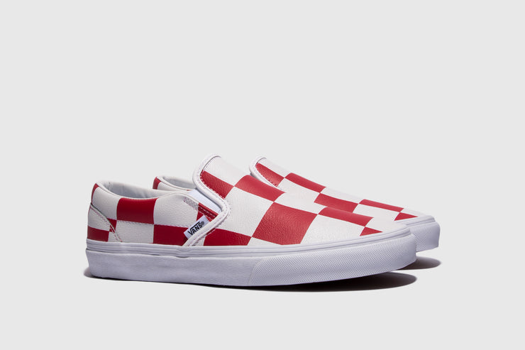 VANS CLASSIC SLIP-ON (LEATHER CHECK)