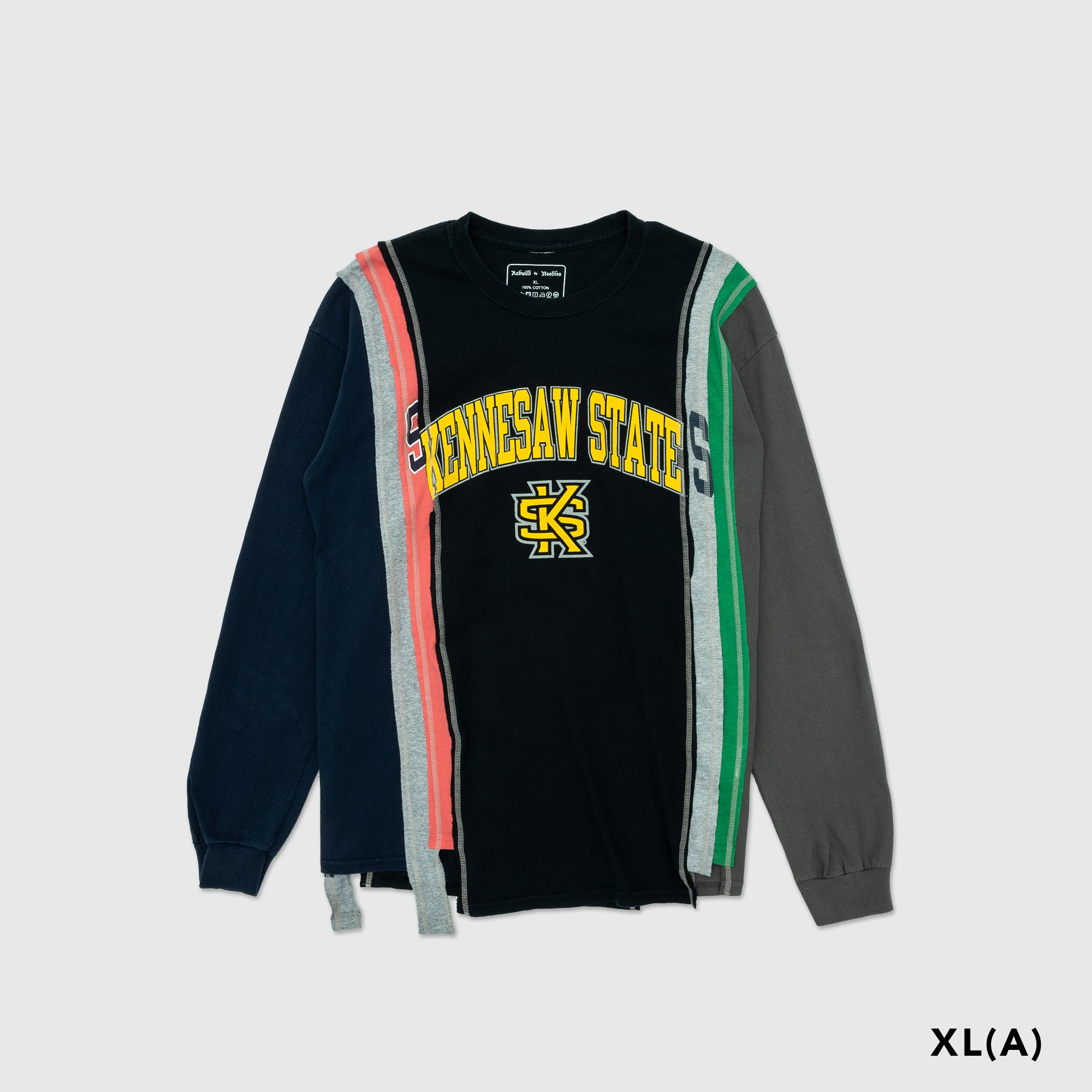REBUILD BY NEEDLES 7 CUTS COLLEGE L/S T-SHIRT