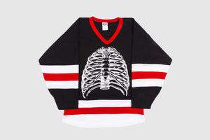 PLEASURES RIBS HOCKEY JERSEY