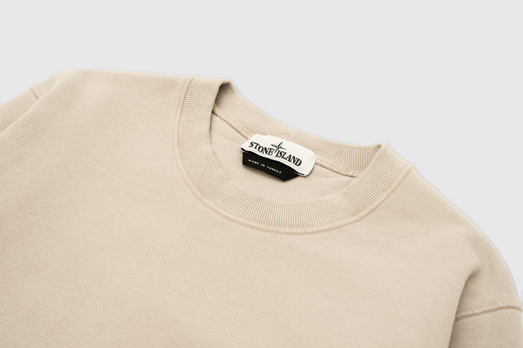 STONE ISLAND BRUSHED COTTON FLEECE CREWNECK