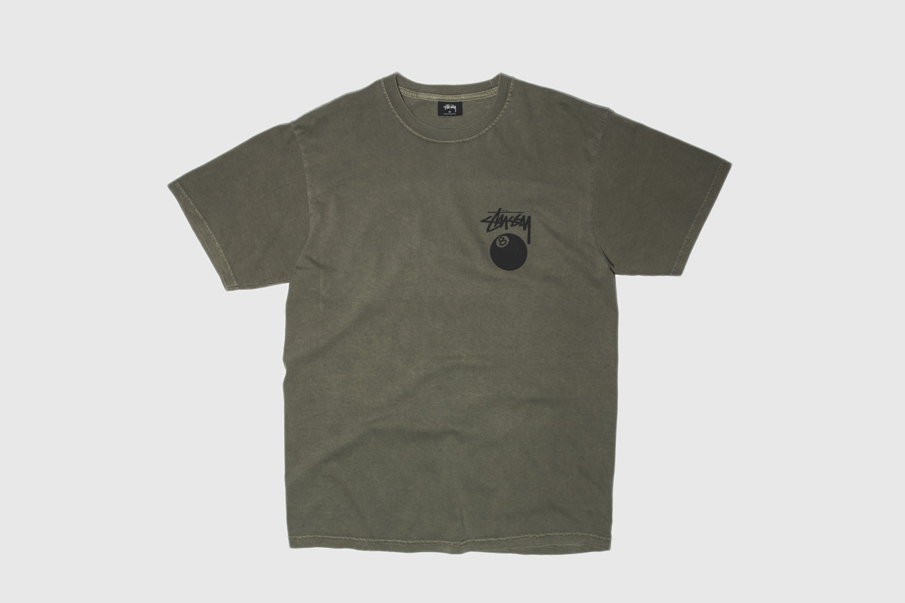 STUSSY 8 BALL PIGMENT DYED S/S T-SHIRT