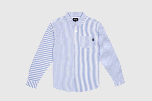 Stussy Navy Blue Open Collar Button Front Size S-XL