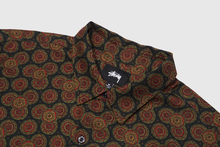 STUSSY CIRCLE PAISLEY PATTERN SHIRT