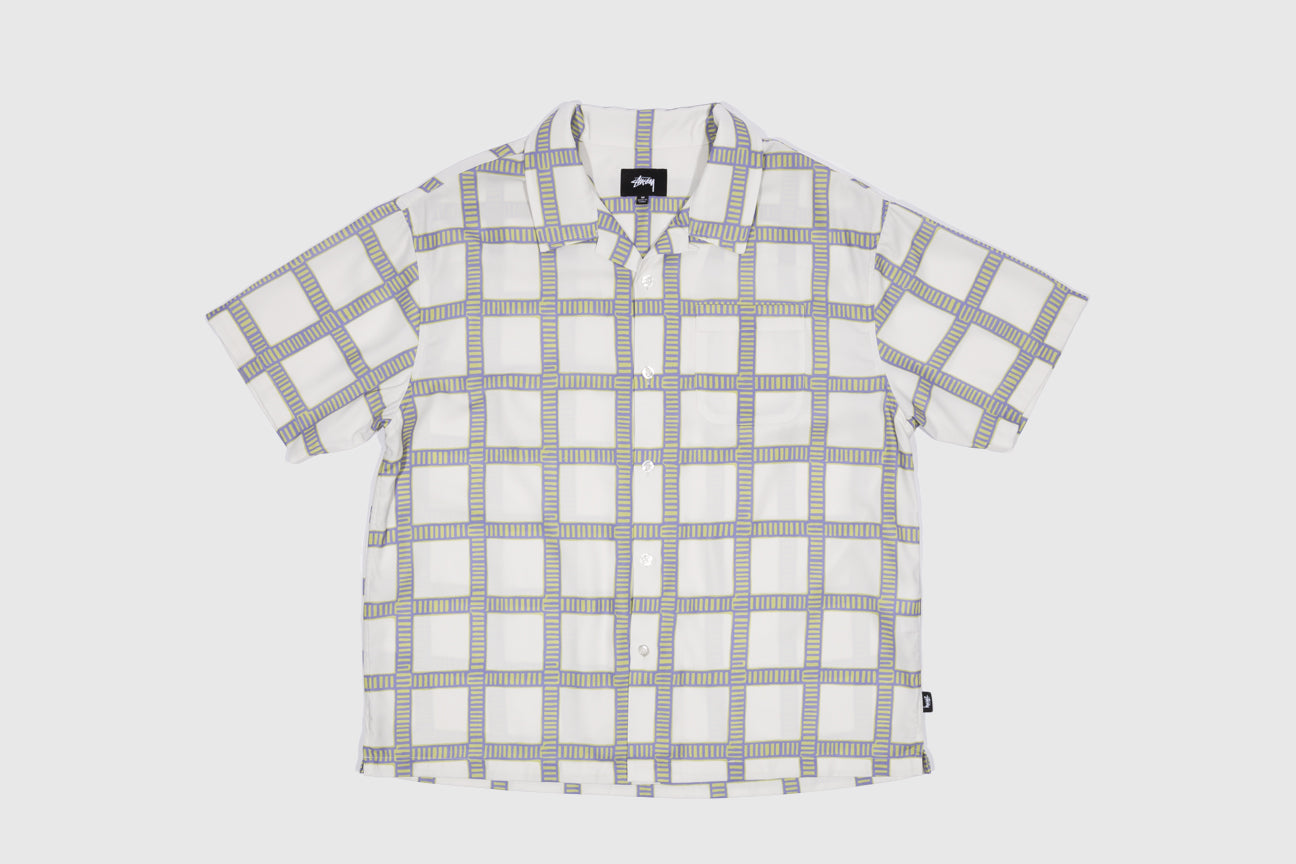 STUSSY HAND DRAWN PLAID SHIRT