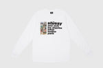STUSSY ITALIC COLLAGE L/S T-SHIRT