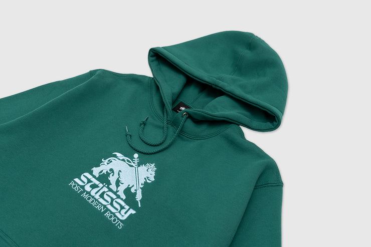 STUSSY LION APPLIQUE PULLOVER HOODY