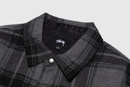 STUSSY MAX PLAID QUILTED SHIRT