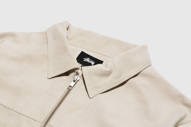 STUSSY MICRO SUEDE WORK SHIRT