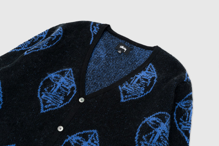 STUSSY MOHAIR MASK CARDIGAN