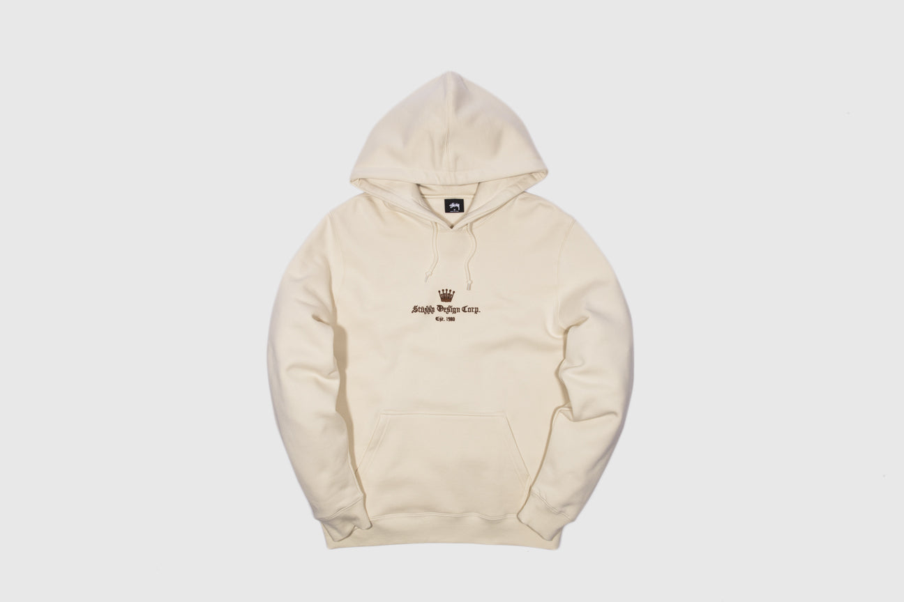 STUSSY OLD ENGLISH APPLIQUE HOODY