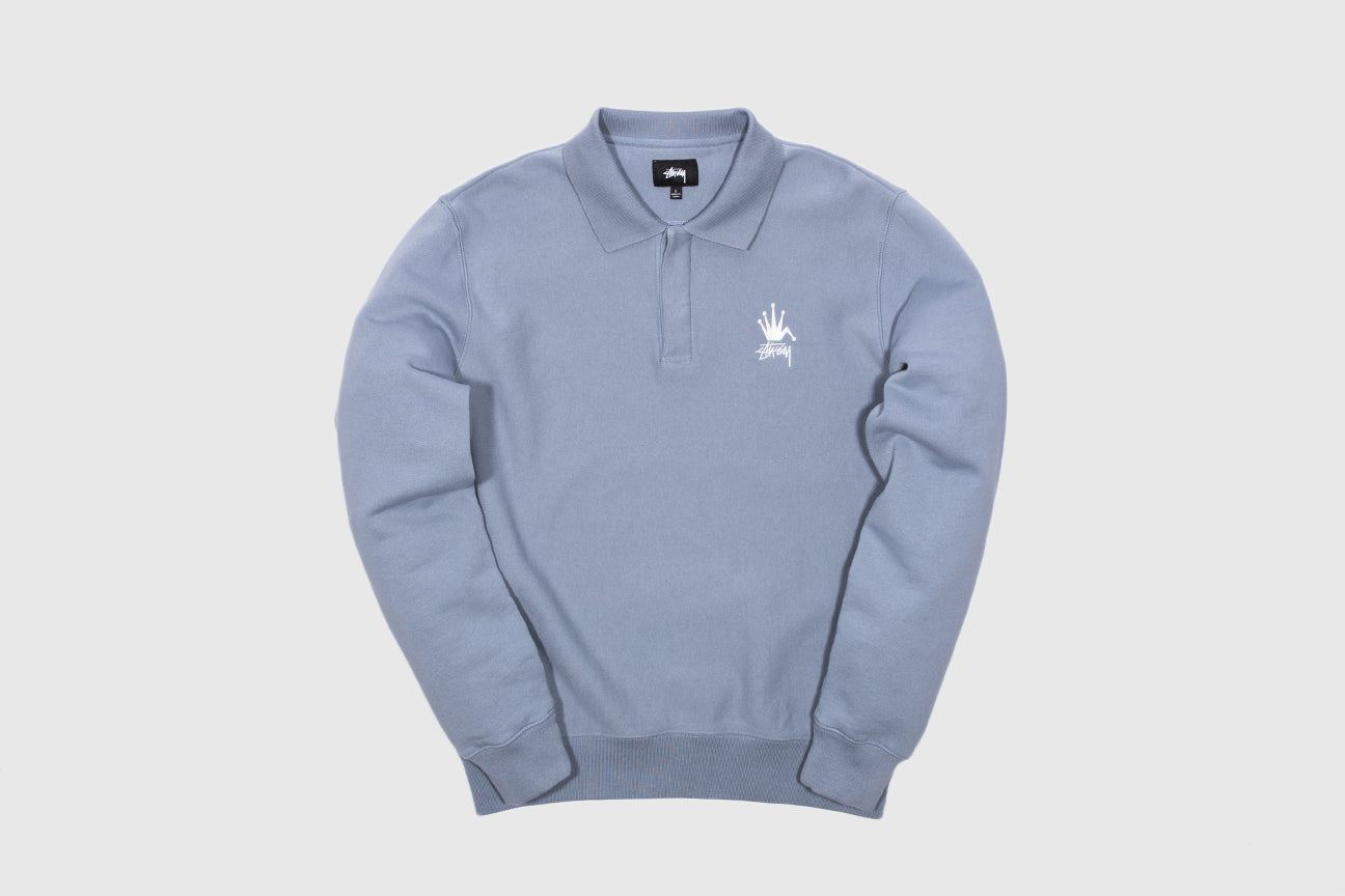 STUSSY POLO FLEECE