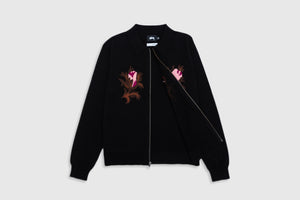 STUSSY ROSE THORN L/S ZIP SWEATER