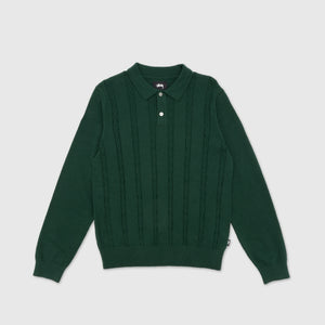 STUSSY S CHAIN L/S KNIT POLO