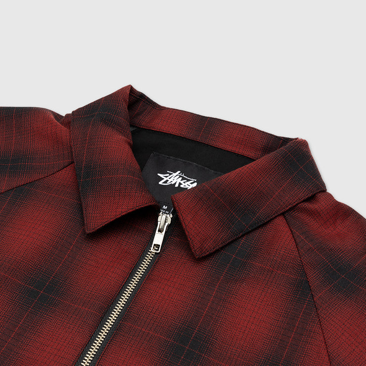 STUSSY SHADOW PLAID BRYAN JACKET