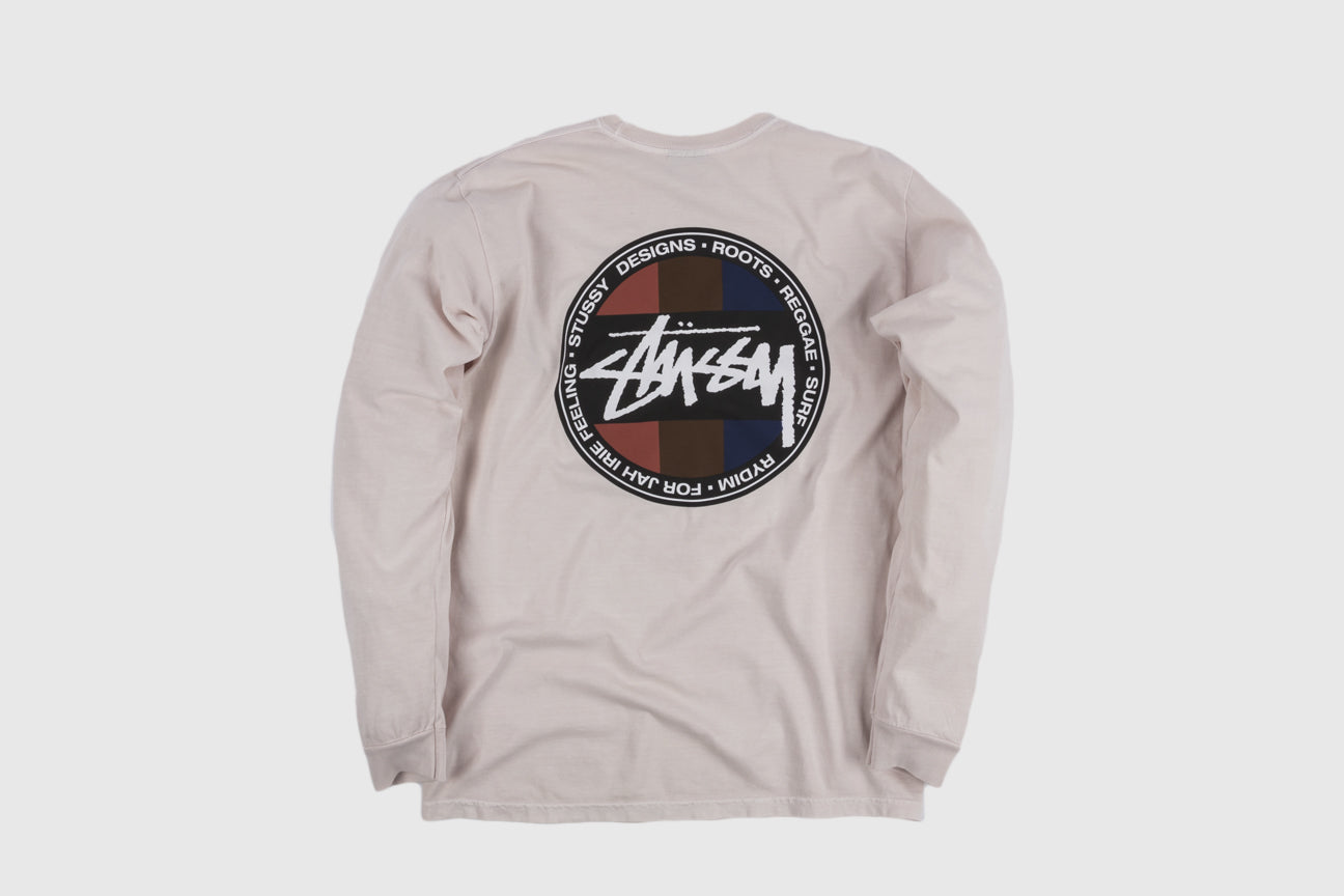 STUSSY SURF DOT PIGMENT DYED L/S T-SHIRT