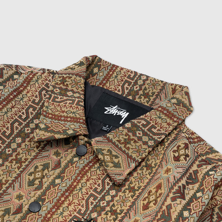 STUSSY TAPESTRY CLASSIC COACH JACKET