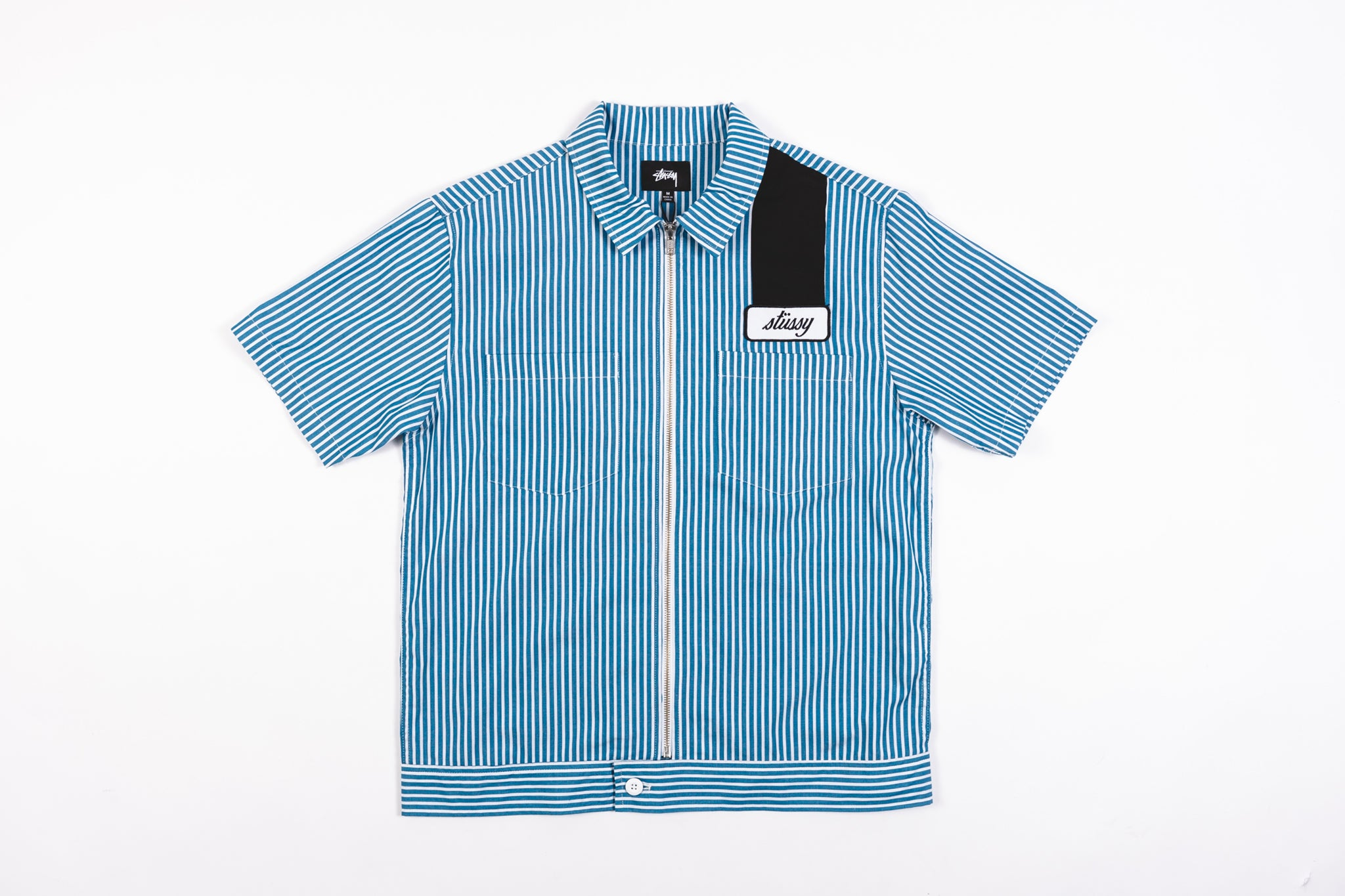 STUSSY ZIP UP WORK SHIRT