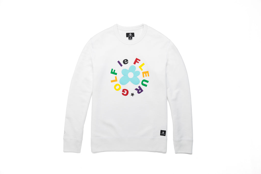CONVERSE X TYLER THE CREATOR ESSENTIAL CREW SWEATSHIRT - WHITE
