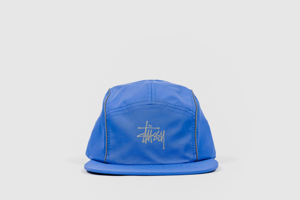 STUSSY REFLECTIVE PIPING CAMP CAP