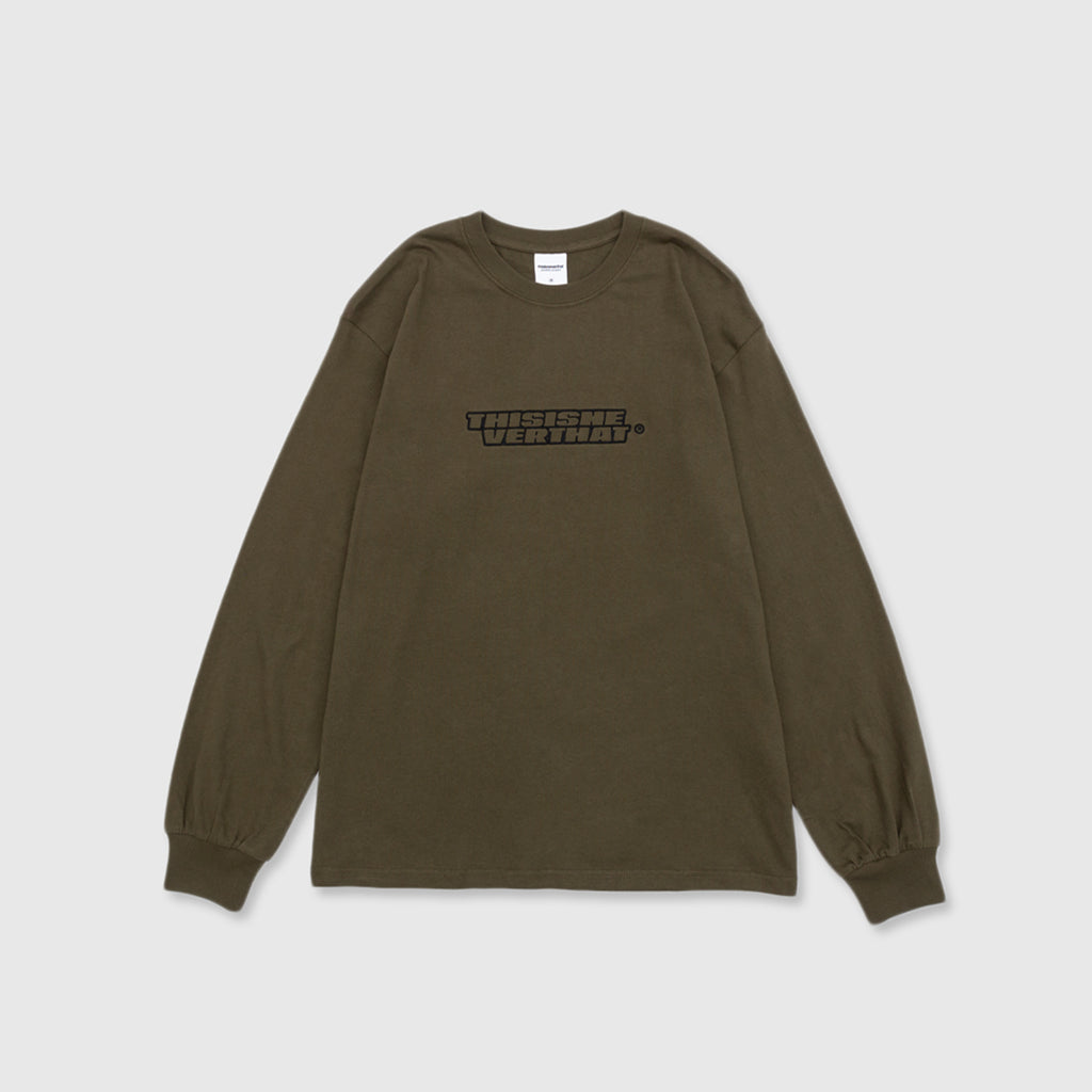 THISISNEVERTHAT BLOCK LOGO L/S T-SHIRT