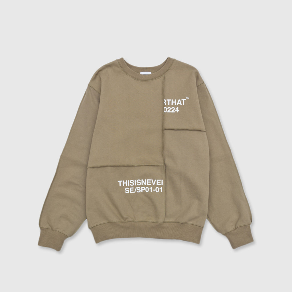 THISISNEVERTHAT CP-PANELED CREWNECK SWEATSHIRT