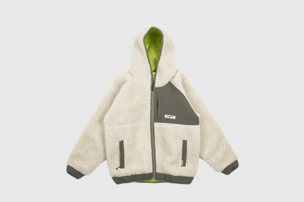 THISISNEVERTHAT HOODED BOA FLEECE JACKET
