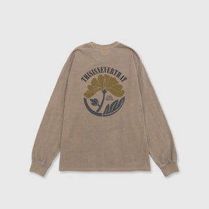 THISISNEVERTHAT OVERDYED FLOWER L/S T-SHIRT