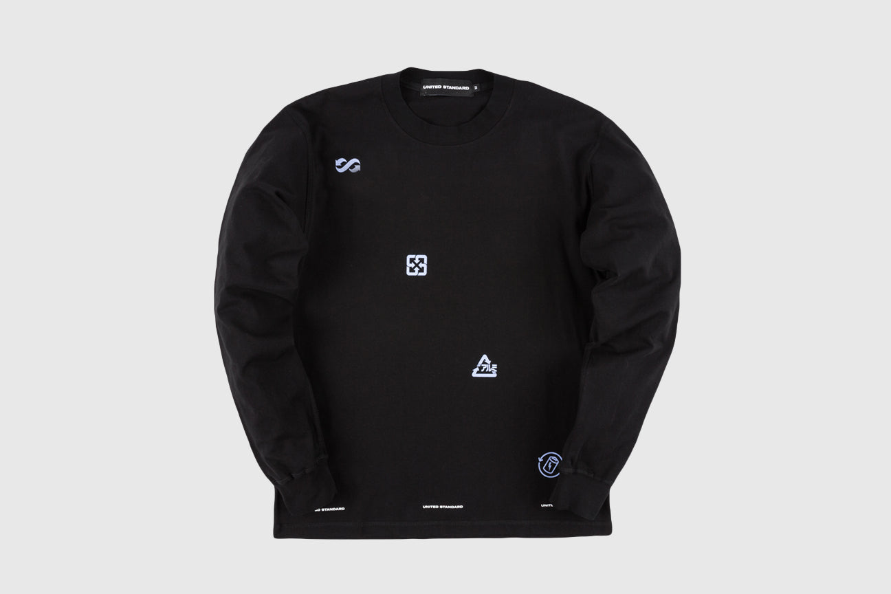 UNITED STANDARD X VIRGIL ABLOH RECYCLE L/S T-SHIRT