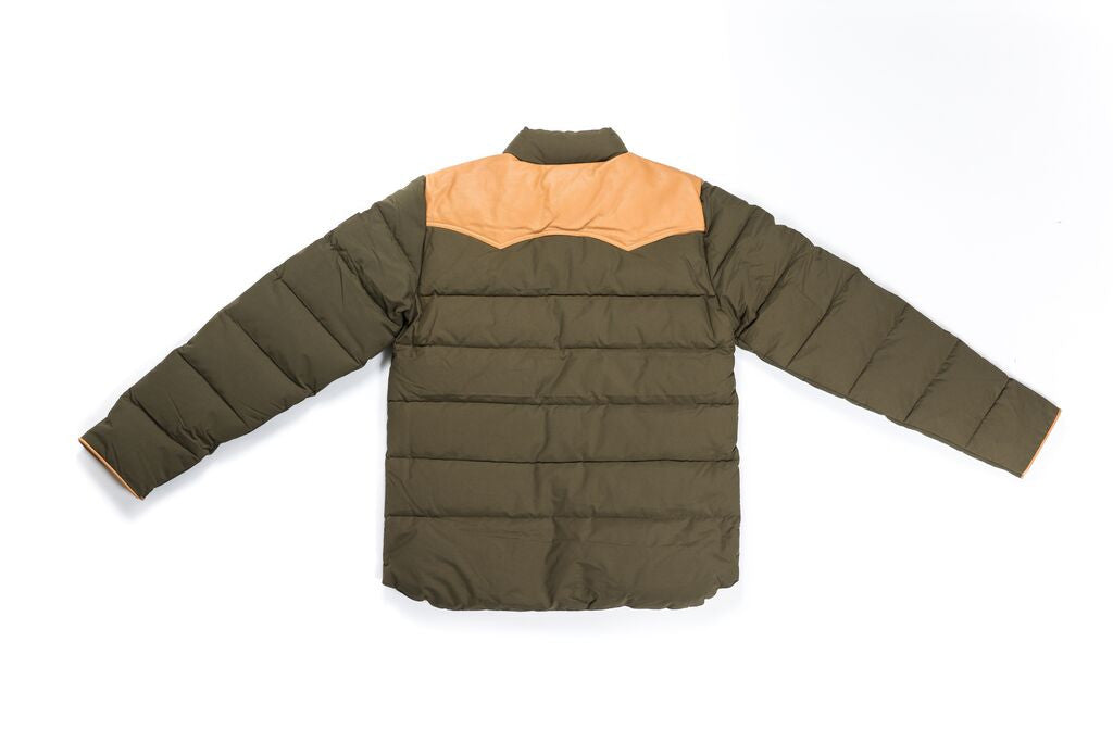 "PENFIELD ""PELAM"" LEATHER YOKE DOWN - LICHEN"