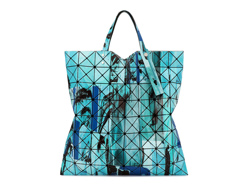 Issey Miyake Bao Bao - Gravity Paint Prism Tote (Blue Mix)