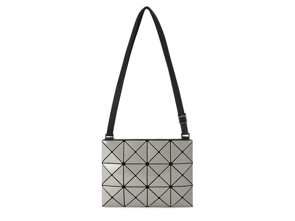 Issey Miyake Bao Bao - Lucent W Color Small 2-Tone Crossbody (Light Gray x Charcoal Gray)