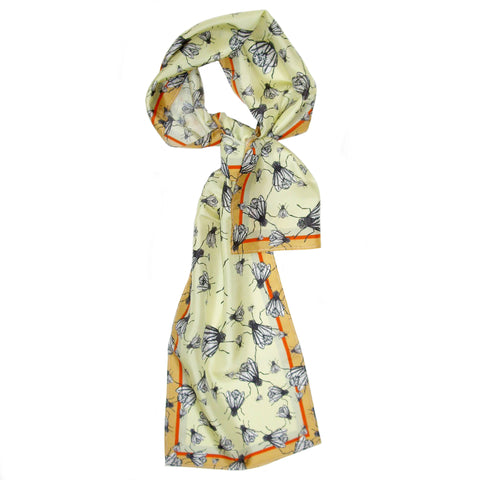Fly Away Home | Long Silk Scarf