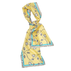 Grey Vine | Long Silk Scarf