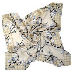 Laughing Soil | Square Silk Scarf